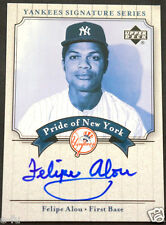 2003 Upper Deck Yankees Signature FELIPE ALOU Auto Beautiful Blue Ink Autograph