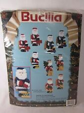 Bucilla Christmas Needlepoint 10 Ornaments Santas of Yesteryear Sealed