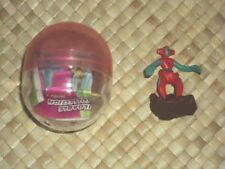 Tomy Pokemon Zukan Figure Deoxys with Capsule and Paper EUC