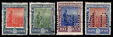 1912-13 ARGENTINA #201-204 - AGRICULTURE - USED - VF - CV $105.60 (ESP#8831)