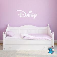 Personalised Custom Children's Disney Style Name Vinyl Wall Art Sticker Decal