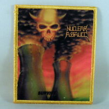 NUCLEAR ASSAULT Survive (YELLOW Border Printed Small Patch) (NEW)