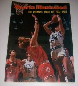 1975 Sports Illustrated KENTUCKY WildCats INDIANA HOOSIERS Final Four No Label