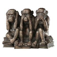 Three Truth of Man Wise Monkey See Hear Speak No Evil Statue Figure Bronze Decor