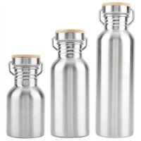 350/500/750ml Acero Inoxidable Exterior Portátil Agua Taza Drink Botella Viaje