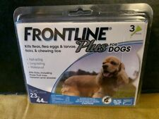 NEW Frontline Plus 23-44 Flea and Tick Treatment for Medium Size Dogs - 3 Doses