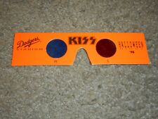 KISS - ORIGINAL 3D GLASSES - DODGER STADIUM - HALLOWEEN 1998