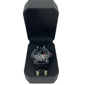 New NFL Wrist Watch Game Time Houston Texans w/ Box Stainless Steel Black