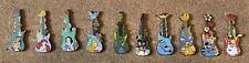 Disney Parks Disneyland Mystery Limited Release Guitars Set Of 10 Pins