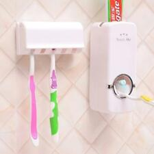 Automatic Toothpaste Dispenser Toothbrush Holder Stand Wall Mounted No Batteries