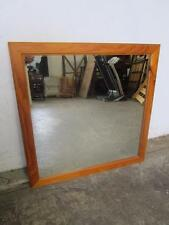 D12101 Large Square Pine Framed Wall Mirror