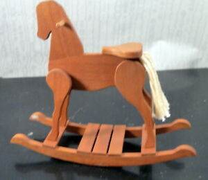 Vintage Artist Made ROCKING HORSE for Nursery 1:12 Dollhouse Miniature