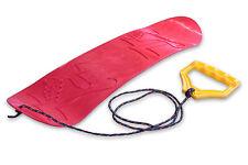 Ondis24 Mini Snowboard für Kinder Rutschboard Lern-Snowboard mit Halteseil rot