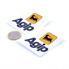 Agip Oil Stickers Classic Car Motorcycle Racing Sticker Vinyl Decals 50mm x2