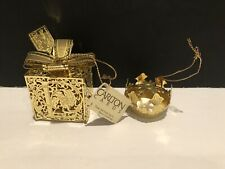 Christmas Holiday Ornaments~ Carlton Cards & Other Gold Finish Metal Laser Cut