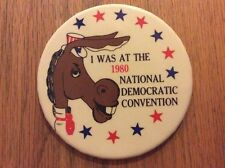 """I was at the 1980 Democratic National Convention 3.5"""" Button Pres. Jimmy Carter"""