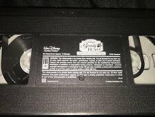 Walt Disney BEAUTY AND THE BEAST enchanted CHRISTMAS animasted VIDEO vhs tape