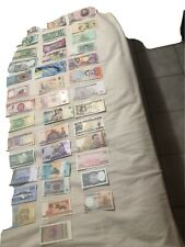 Lot of 40 Rare World Bank Notes from 40 Countries Uncirculated Free Shipping!