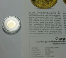 """""""Die kleinsten Goldmünzen"""" - Solomon Islands Gold 10$ 2009 - Hängende Gärten"""