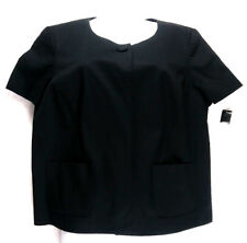 East 5th Womens Cardigan Top Size Large Black Short Sleeve Crop Cape
