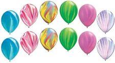 12 pc Rainbow Agate Latex Balloons Princess & Fairy Birthday
