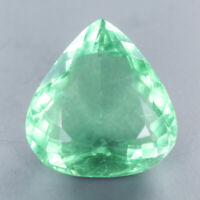 VVS Quality AA color Natural 28.25 Ct.Pear Green Fluorite Africa/ S4571