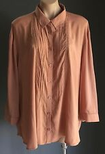 Fab Essential JUST JEANS Rust 3/4 Sleeve Blouse Size 16