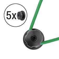 5x Planenhaken rund Kunststoff Ø 25 mm schwarz 6mm Bohrung