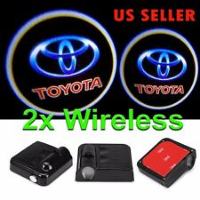 2x Wireless Ghost Shadow Projector Logo LED Light Courtesy Door Step for Toyota