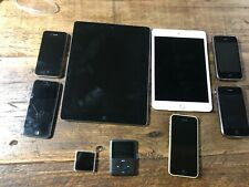 Lot of Nine (9) Apple devices - iPhones, iPads, iPods