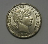Attractive Uncirculated 1912-D Silver Barber Dime Grading CH BU Nice!  C601