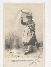 Perrette La Dessus Saute Aussi Le Lait Tombe Children France 1903 Postcard 890a