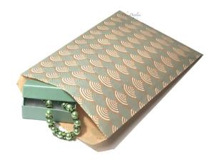 "100pc Flat Kraft Bags Jewelry Gift Bags Teal Kraft Bags Merchandise Bags 6"" x 9"""