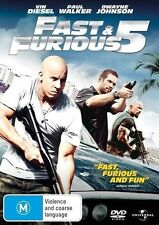 Fast and Furious 5 VIN Diesel Paul Walker Dwayne Johnson DVD R4 PAL
