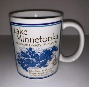 Lake Minnetonka MN Coffee Mug Tea Cup Ceramic White Minnesota Hennepin County