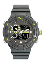 Puma Watch Pu911391002 Collide Analogue Alarm, Chronograph Silicone Grey