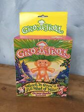 "Vintage 1992 Gro-A-Troll in Original Box ""Watch it Grow a Full Head of Hair!"""