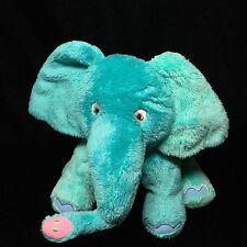 "Eric Carle Teal Blue Elephant Plush Soft Toy Stuffed 8"" 2007 Animal"