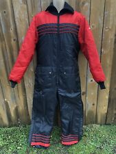 Vintage YAMAHA Snowmobile Suit LARGE Insulated SNOW MACHINE One Piece 70s 80s