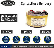 Multi Voltage Toroidal Transformer 11V 12V 15V Direct from Melbourne