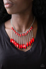 Venturous Vibes Red Necklace By: Paparazzi