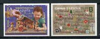 Spain Christmas Stamps 2019 MNH Nativity Navidad Trees 2v S/A Set