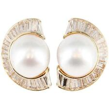 Bulgari South Sea Pearl Diamond 18K Gold Earrings