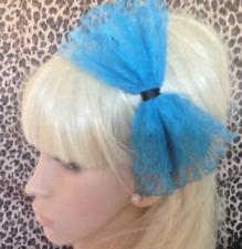 NEW BIG OVERSIZED LACE BOW ALICE HAIR HEAD BAND 80s RETRO HEN PARTY FANCY DRESS
