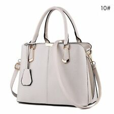 Women Leather Handbag Shoulder Lady Cross Body Bag Tote Messenger Satchel beige
