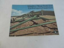 John Deere Irrigation Tillage Tools and Earth shaping Equipment Brochure