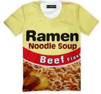 New Fashion Womens/Mens Ramen Noodle Soup Funny 3D Print Casual T-Shirt YT1019