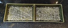Vintage Retro Carlton Ware Textures Roman Green Skye Hors D'oeuvres Plate No2852
