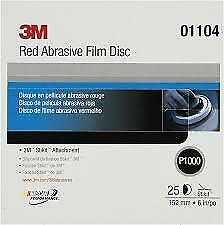 "3M 01104 1000 Grit 6"" DA Stick-It Red Abrasive Sandpaper"
