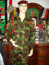Iraqi Special Force Woodland Camouflage Staff Lt Colonel Uniform, Belt, Holster.